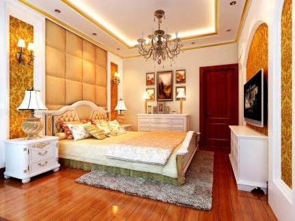 现代欧式卧室电视背景墙装修设计图