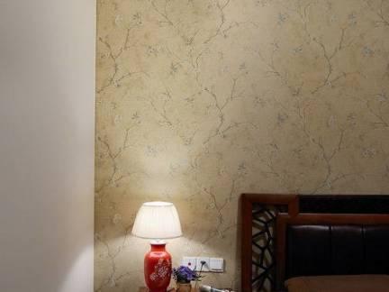 东南亚风格卧室实木床头柜装修设计