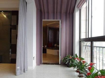 亚洲风格四室两厅阳台壁纸飘窗图片欣赏