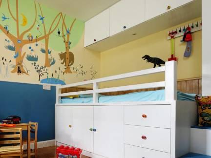 地中海风格儿童房背景墙设计效果图