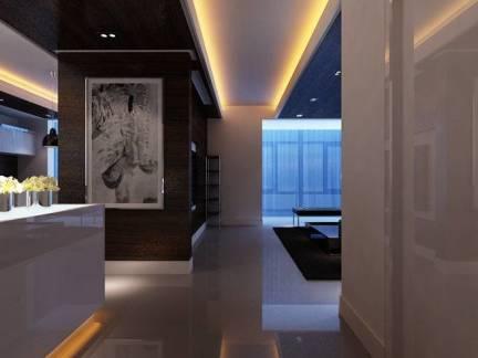现代五居室过道吊顶装修效果图