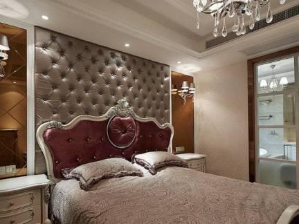 欧式风格别墅卧室软包背景墙装修效果图