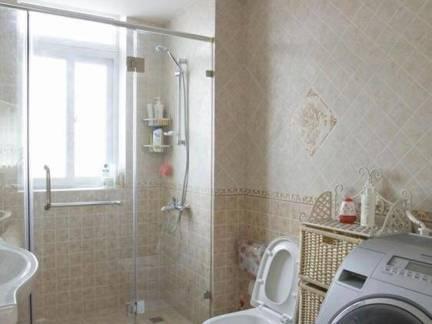 居家简约风格卫生间墙上瓷砖样板房