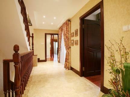 现代美式风格大户型别墅卧室过道走廊设计
