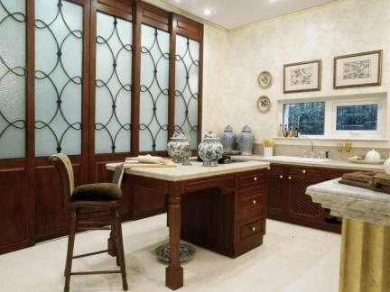 小户型家庭工作室红木家具效果图欣赏