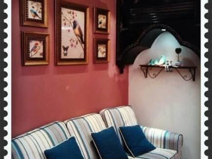 田园地中海客厅沙发背景墙图片