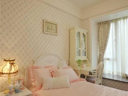 温馨可爱田园风儿童房床头柜设计案例
