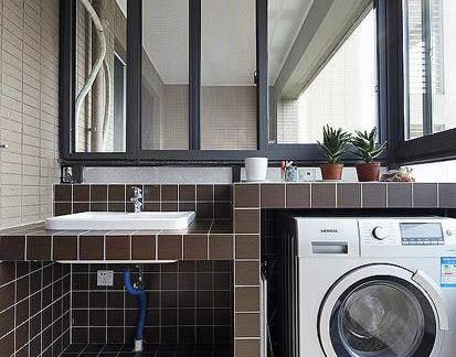 都市商品房四居室阳台洗衣机装修设计