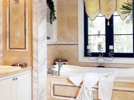 奢华别墅浴室浴缸壁灯装修设计