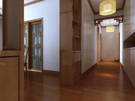 木石馨香中式过道吊顶玄关柜装修图