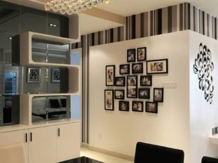 个性黑白现代风格餐厅照片墙样板间