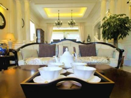 高档客厅欧式别墅茶几餐具细节图
