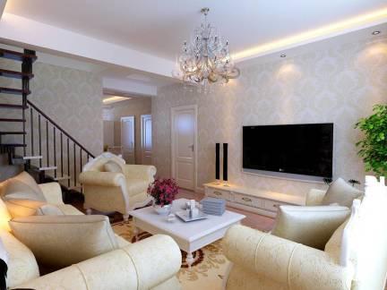 大型欧式复式楼客厅墙衣装修效果图