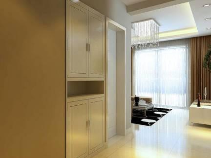 现代三居室玄关平开门储物柜效果图欣赏