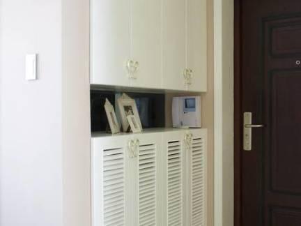 现代风格玄关一体式储物柜鞋柜效果图欣赏