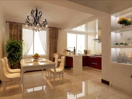 简约四居室餐厅窗帘装修设计