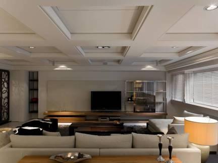 大型中式客厅集成吊顶图片欣赏