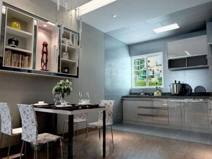 现代简约小户型三居室餐厅餐桌设计美图欣赏