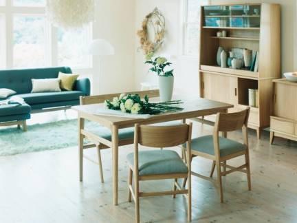 华美日式风格89平米小户型二居室餐厅餐桌设计