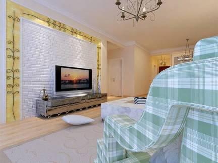 欧式风格别墅客厅电视墙效果图欣赏