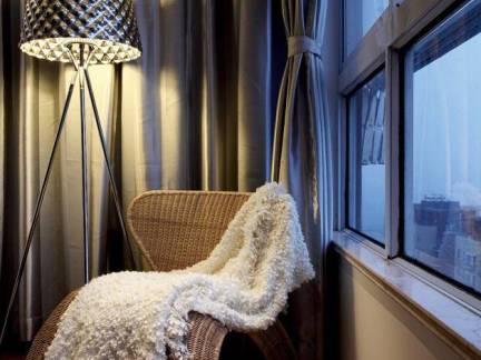 复式楼现代风格阳台窗帘装修设计