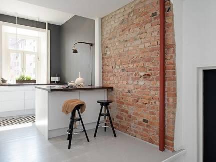 北欧风格小户型厨房吧台装修效果图