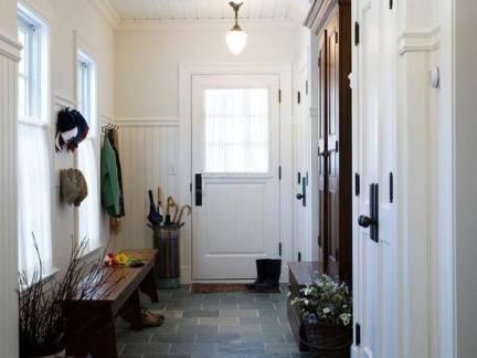 简约美式乡村别墅进门玄关柜效果图