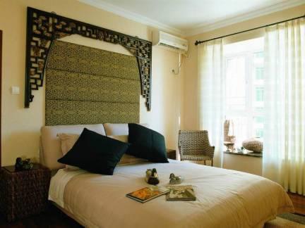 复古东南亚乡村风格卧室床头柜设计图