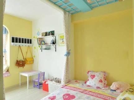田园地中海儿童房吊顶装修图
