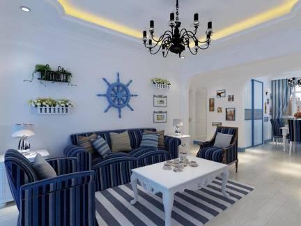 地中海风格四居室墙面装饰效果图欣赏