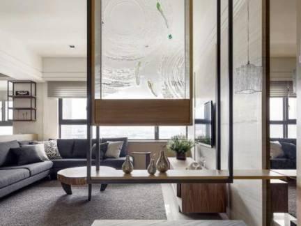 创意设计客厅置物架隔断装修设计