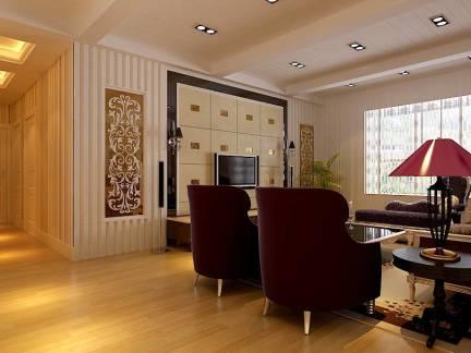 100平米豪华小型客厅电视墙装修效果图