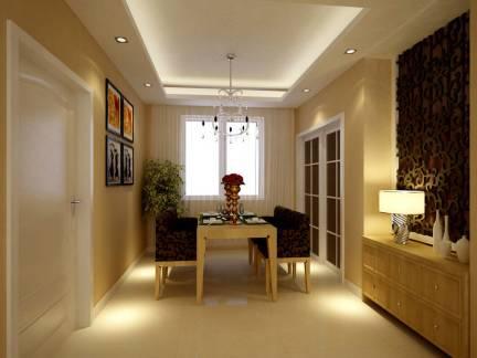 典雅现代风格三居室餐厅吊顶美图欣赏