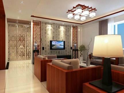 古韵中式风格客厅电视背景墙效果图