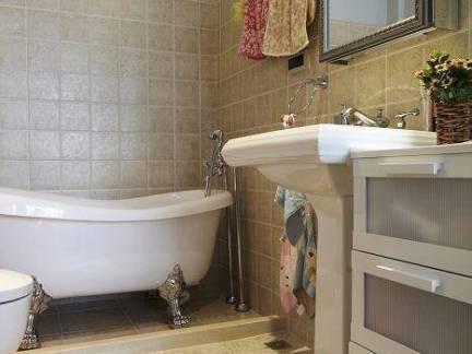 质朴地中海风格卫浴洗手台图片欣赏