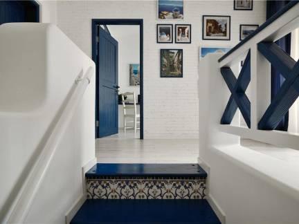 精致地中海风格家装走廊设计效果图