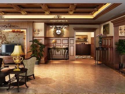 轻奢华欧式别墅客厅电视背景墙设计图