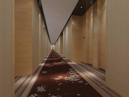 现代简约风格酒店走廊地毯装修效果图