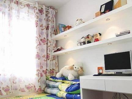 110平米现代风格四居室儿童房书桌装修设计