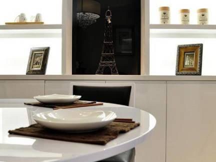 120平米复式楼现代风格餐厅置物架装修设计