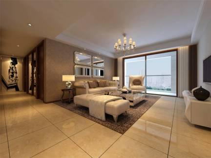 简欧大型卧室室内装修效果图