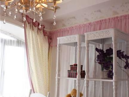 欧式别墅儿童房置物架装修设计