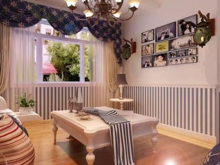 地中海四居室餐厅墙裙装修设计