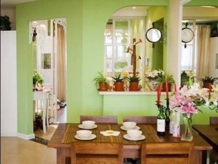 田园风格餐厅实木餐桌装修设计
