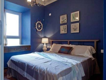 蓝色地中海风格儿童房吊顶设计图