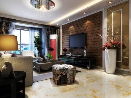 潮流新古典风格客厅电视背景墙设计合集