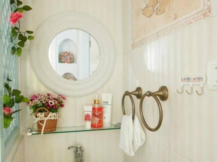田园风格小户型卫生间洗手台装修设计