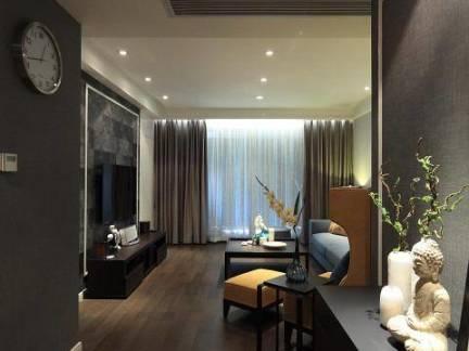 低调质感中式风玄关客厅图片欣赏