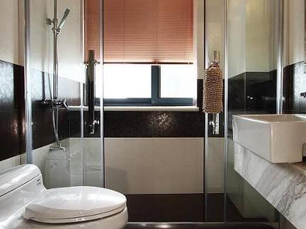新古典风格卫生间玻璃移门装修效果图