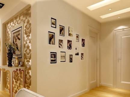 韩式风格玄关照片墙简易装饰效果图
